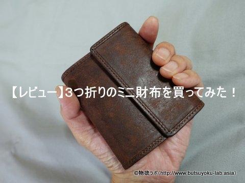 【レビュー】3つ折りのミニ財布を買ってみた!(sot コンパクトウォレット so-w-0138)